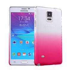 Handyhülle Hülle Schutzhülle Durchsichtig Farbverlauf für Samsung Galaxy Note 4 SM-N910F Rosa