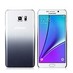 Handyhülle Hülle Schutzhülle Durchsichtig Farbverlauf für Samsung Galaxy Note 5 N9200 N920 N920F Grau