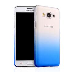 Handyhülle Hülle Schutzhülle Durchsichtig Farbverlauf für Samsung Galaxy On5 G550FY Blau