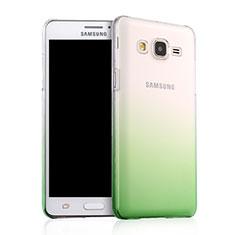 Handyhülle Hülle Schutzhülle Durchsichtig Farbverlauf für Samsung Galaxy On5 G550FY Grün