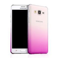 Handyhülle Hülle Schutzhülle Durchsichtig Farbverlauf für Samsung Galaxy On5 G550FY Rosa