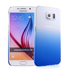 Handyhülle Hülle Schutzhülle Durchsichtig Farbverlauf für Samsung Galaxy S6 SM-G920 Blau
