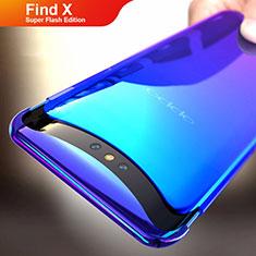 Handyhülle Hülle Schutzhülle Durchsichtig Transparent Farbverlauf für Oppo Find X Super Flash Edition Blau