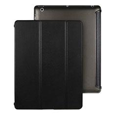 Handyhülle Hülle Stand Tasche Leder für Apple iPad 3 Schwarz