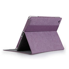 Handyhülle Hülle Stand Tasche Leder für Apple iPad 3 Violett