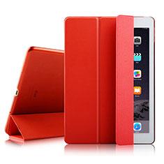 Handyhülle Hülle Stand Tasche Leder für Apple iPad Air 2 Rot
