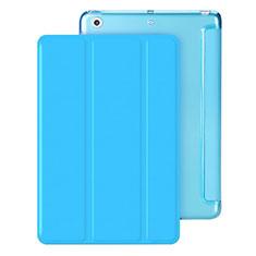 Handyhülle Hülle Stand Tasche Leder für Apple iPad Mini Hellblau