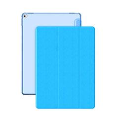Handyhülle Hülle Stand Tasche Leder für Apple iPad Pro 12.9 Hellblau