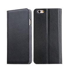 Handyhülle Hülle Stand Tasche Leder für Apple iPhone 6 Plus Schwarz