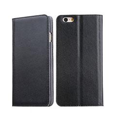 Handyhülle Hülle Stand Tasche Leder für Apple iPhone 6 Schwarz