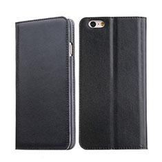 Handyhülle Hülle Stand Tasche Leder für Apple iPhone 6S Schwarz