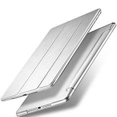 Handyhülle Hülle Stand Tasche Leder für Apple New iPad 9.7 (2018) Silber