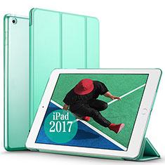 Handyhülle Hülle Stand Tasche Leder für Apple New iPad Pro 9.7 (2017) Grün