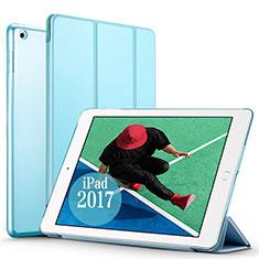 Handyhülle Hülle Stand Tasche Leder für Apple New iPad Pro 9.7 (2017) Hellblau