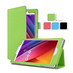 Handyhülle Hülle Stand Tasche Leder für Asus ZenPad C 7.0 Z170CG Grün