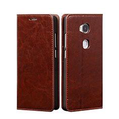 Handyhülle Hülle Stand Tasche Leder für Huawei Honor 5X Braun