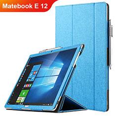 Handyhülle Hülle Stand Tasche Leder für Huawei Matebook E 12 Blau