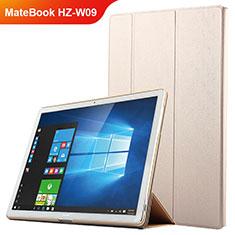 Handyhülle Hülle Stand Tasche Leder für Huawei MateBook HZ-W09 Gold
