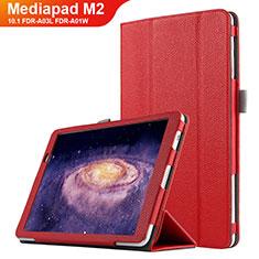 Handyhülle Hülle Stand Tasche Leder für Huawei MediaPad M2 10.1 FDR-A03L FDR-A01W Rot