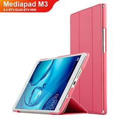 Handyhülle Hülle Stand Tasche Leder für Huawei Mediapad M3 8.4 BTV-DL09 BTV-W09 Rot