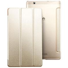 Handyhülle Hülle Stand Tasche Leder für Huawei MediaPad M3 Gold