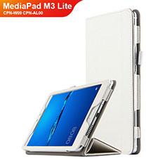 Handyhülle Hülle Stand Tasche Leder für Huawei MediaPad M3 Lite 8.0 CPN-W09 CPN-AL00 Weiß