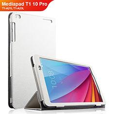 Handyhülle Hülle Stand Tasche Leder für Huawei Mediapad T1 10 Pro T1-A21L T1-A23L Weiß