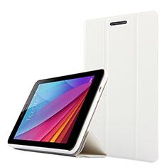 Handyhülle Hülle Stand Tasche Leder für Huawei Mediapad T1 7.0 T1-701 T1-701U Weiß