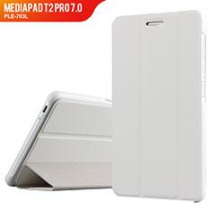Handyhülle Hülle Stand Tasche Leder für Huawei MediaPad T2 Pro 7.0 PLE-703L Weiß