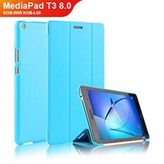 Handyhülle Hülle Stand Tasche Leder für Huawei MediaPad T3 8.0 KOB-W09 KOB-L09 Hellblau