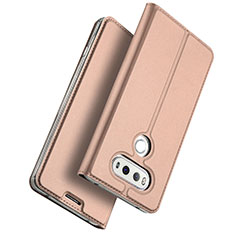 Handyhülle Hülle Stand Tasche Leder für LG G6 Rosegold