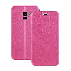 Handyhülle Hülle Stand Tasche Leder für Samsung Galaxy A5 (2018) A530F Pink
