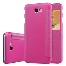 Handyhülle Hülle Stand Tasche Leder für Samsung Galaxy J5 Prime G570F Pink