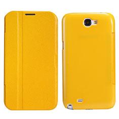 Handyhülle Hülle Stand Tasche Leder für Samsung Galaxy Note 2 N7100 N7105 Gelb