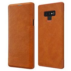 Handyhülle Hülle Stand Tasche Leder für Samsung Galaxy Note 9 Braun