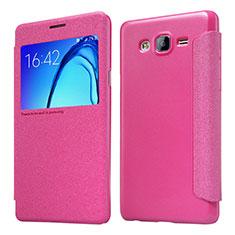 Handyhülle Hülle Stand Tasche Leder für Samsung Galaxy On5 Pro Pink
