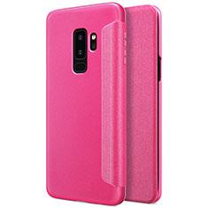 Handyhülle Hülle Stand Tasche Leder für Samsung Galaxy S9 Plus Pink