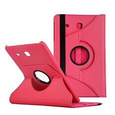 Handyhülle Hülle Stand Tasche Leder für Samsung Galaxy Tab E 9.6 T560 T561 Rot