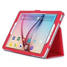 Handyhülle Hülle Stand Tasche Leder für Samsung Galaxy Tab S2 9.7 SM-T810 SM-T815 Rot