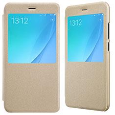 Handyhülle Hülle Stand Tasche Leder für Xiaomi Mi A1 Gold