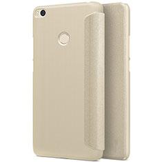 Handyhülle Hülle Stand Tasche Leder für Xiaomi Mi Max 2 Gold