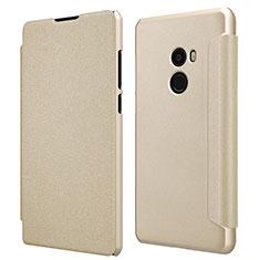 Handyhülle Hülle Stand Tasche Leder für Xiaomi Mi Mix 2 Gold