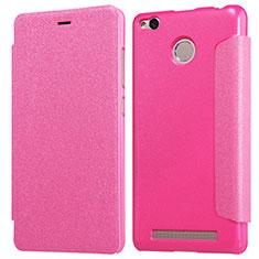 Handyhülle Hülle Stand Tasche Leder für Xiaomi Redmi 3 Pro Pink