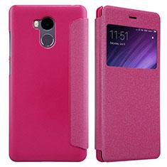 Handyhülle Hülle Stand Tasche Leder für Xiaomi Redmi 4 Prime High Edition Pink