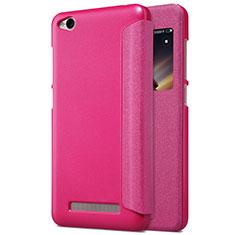 Handyhülle Hülle Stand Tasche Leder für Xiaomi Redmi 4A Pink