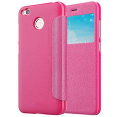 Handyhülle Hülle Stand Tasche Leder für Xiaomi Redmi 4X Pink