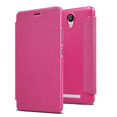Handyhülle Hülle Stand Tasche Leder für Xiaomi Redmi Note 2 Pink