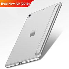 Handyhülle Hülle Stand Tasche Leder L01 für Apple iPad New Air (2019) 10.5 Silber