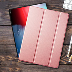Handyhülle Hülle Stand Tasche Leder L01 für Apple iPad Pro 12.9 (2018) Rosa