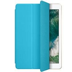Handyhülle Hülle Stand Tasche Leder L01 für Apple New iPad 9.7 (2018) Hellblau